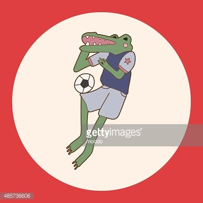 Animals Play Football Cartoon Theme Elements premium clipart.