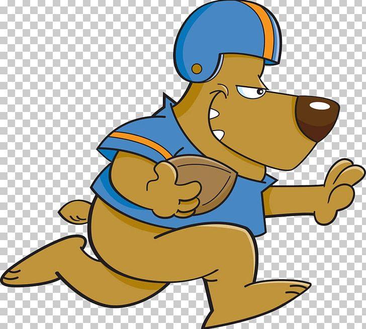 Dog Cartoon American Football PNG, Clipart, Animals, Baton.