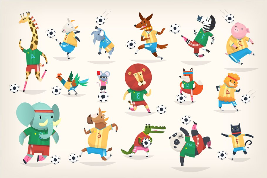 Football Animals ~ Illustrations ~ Creative Market.