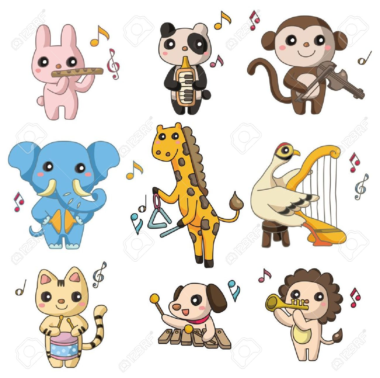 Animals Playing Clipart.
