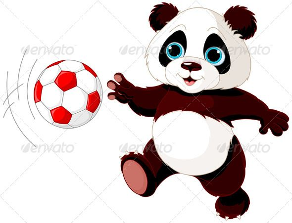Panda Hits the Ball.