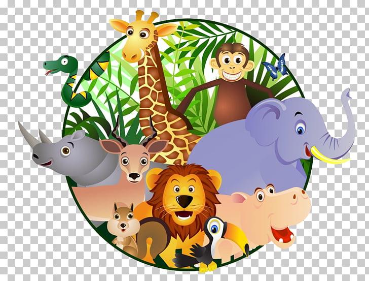 Cartoon Safari , orangutan, zoo animals PNG clipart.