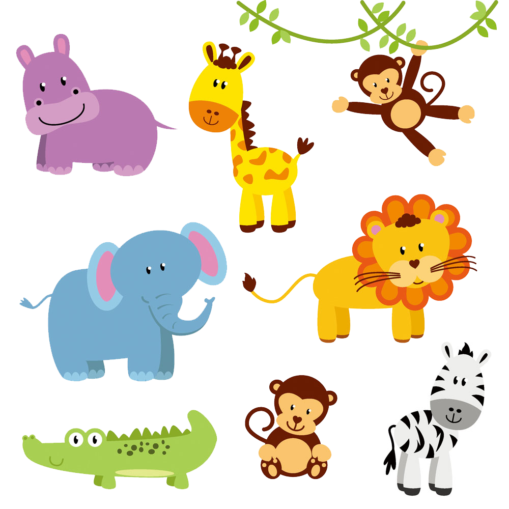 Jungle Animal Zoo Northern giraffe Clip art.