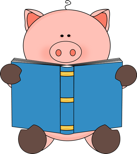 Animals Reading Books Clipart.