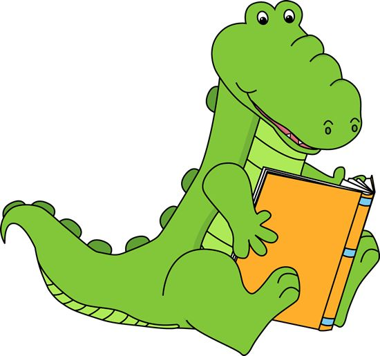 Animals Reading Books Clip Art.