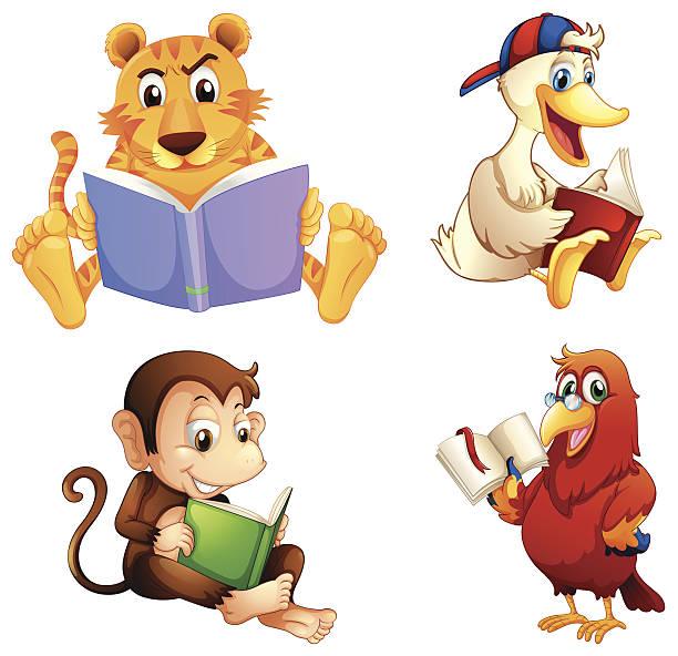 Clip Art Of Owl Reading Book Clip Art, Vector Images.