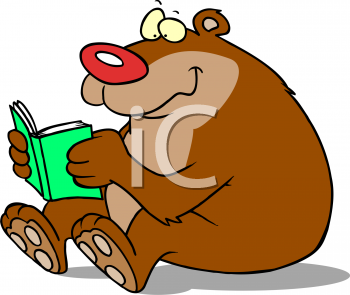 Animals Reading Clipart.