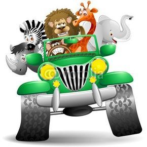 jungle safari jeep clipart #42.