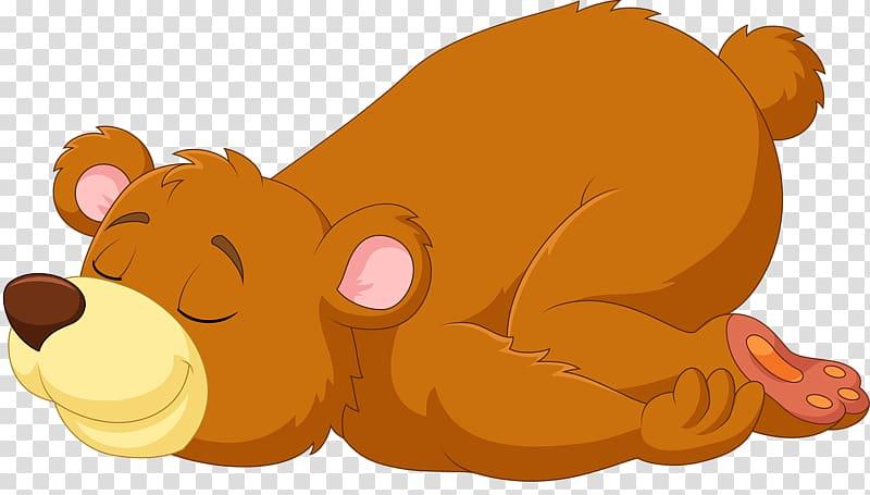 Sleeping bear illustration, Bear Sleep in non.