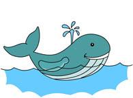 Swimming Animals Clipart.