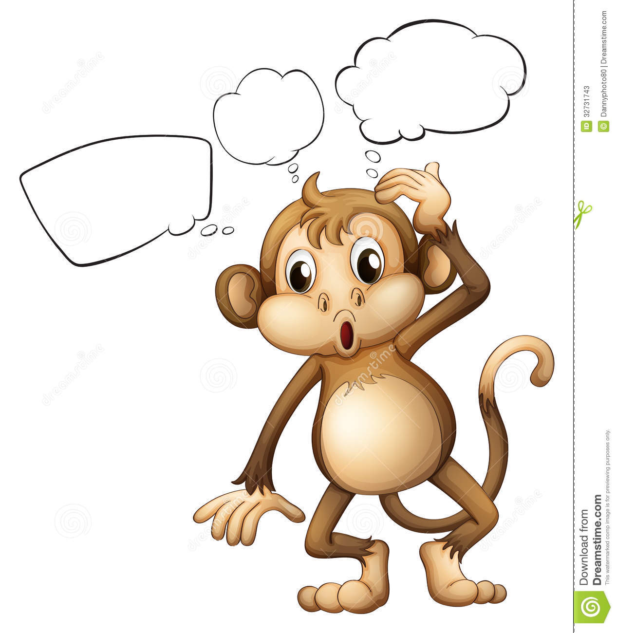 Thinking Monkey Clipart.