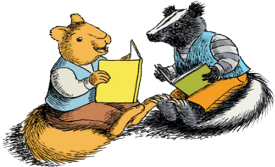 Animals Reading Together Clipart.