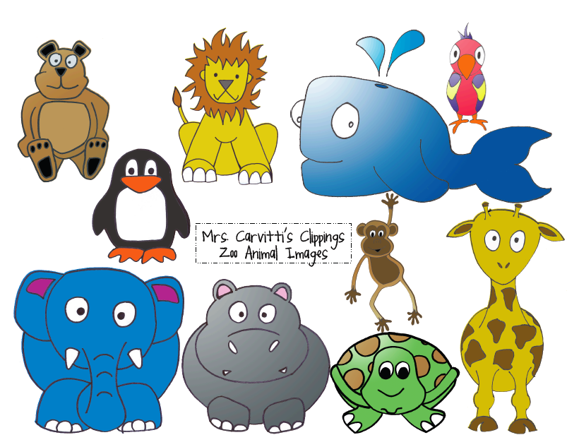 Clip Art Zoo Animals.