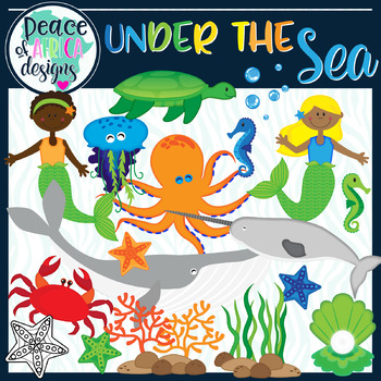 Under the Sea Ocean Animals Clip Art.