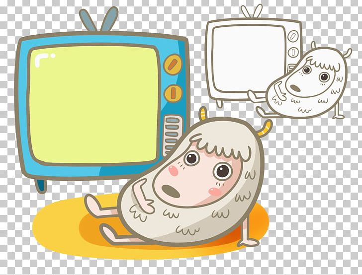Lovely Sheep Television Illustration PNG, Clipart, Animals.