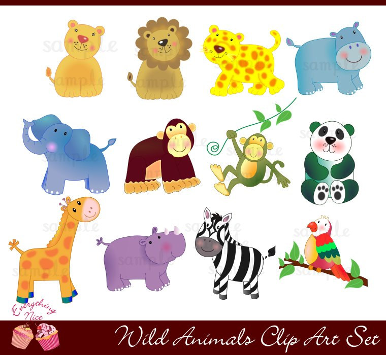 Clipart wildlife animals.