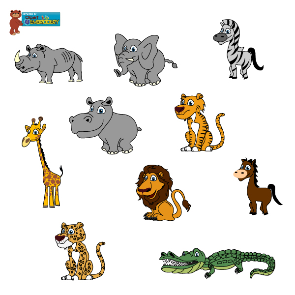 Wild animals clipart for kids.