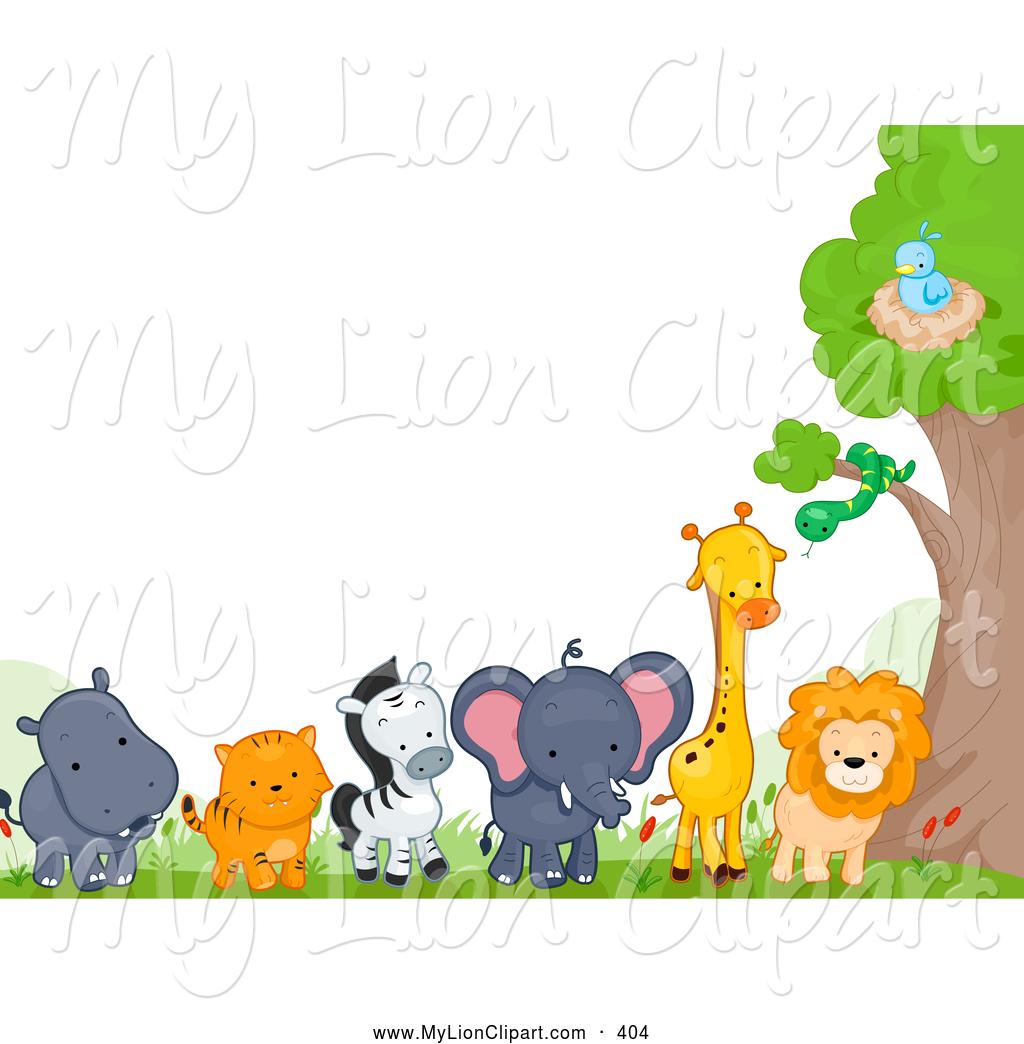 Wildlife border clip art.