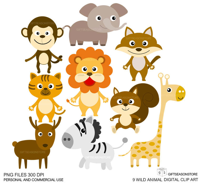 Clip Art Animals.
