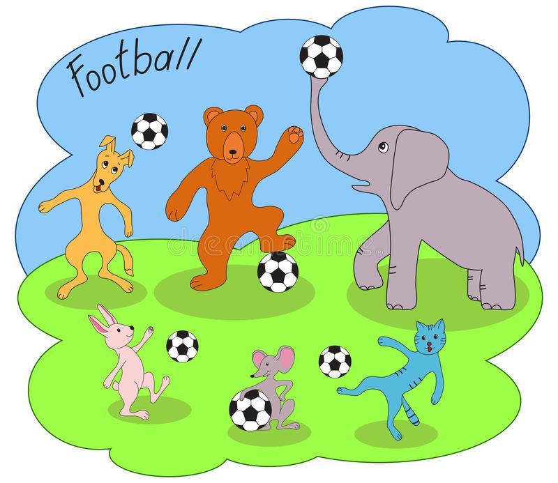 Animals Soccer Game Stock Illustrations.