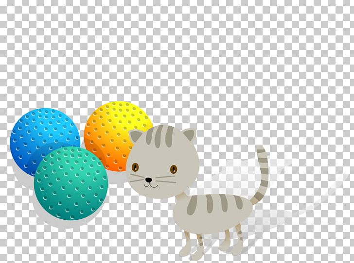 Cat Toy Illustration PNG, Clipart, Animal, Animals, Ball.