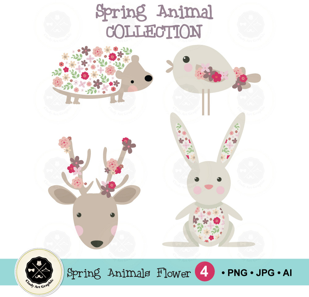Free Flower Animals Cliparts, Download Free Clip Art, Free.