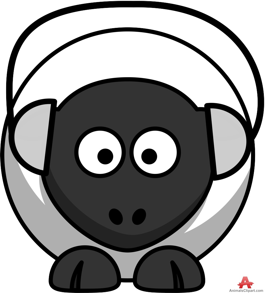 Sheep clipart with music headphones free design download.