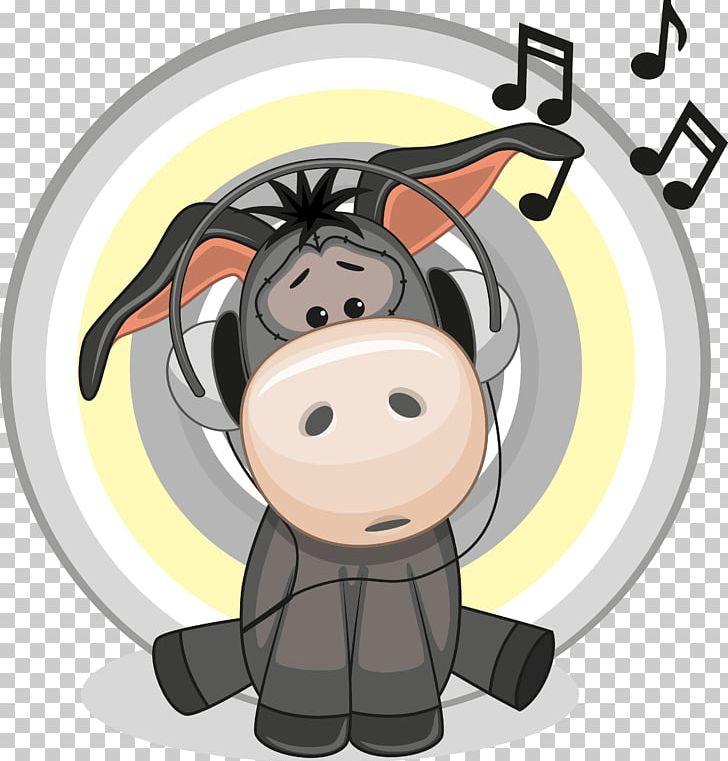Headphones Donkey Illustration PNG, Clipart, Animal, Animals.