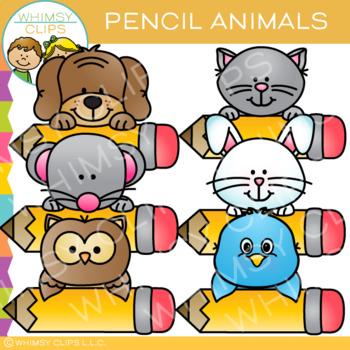 Pencil Animals Clip Art.