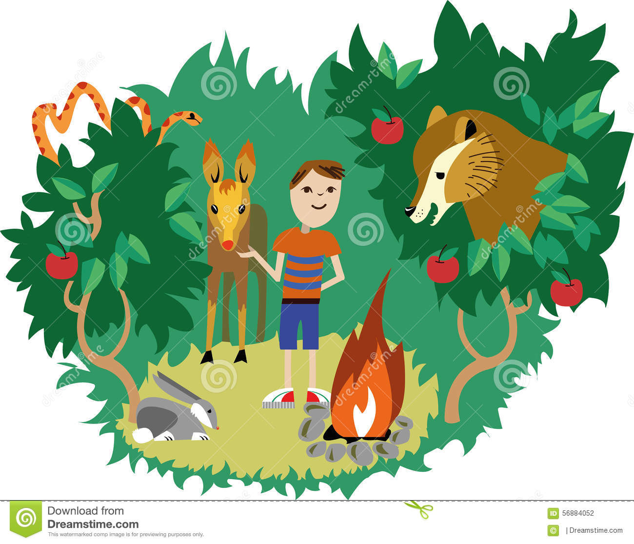 Animals And Humans Clipart.