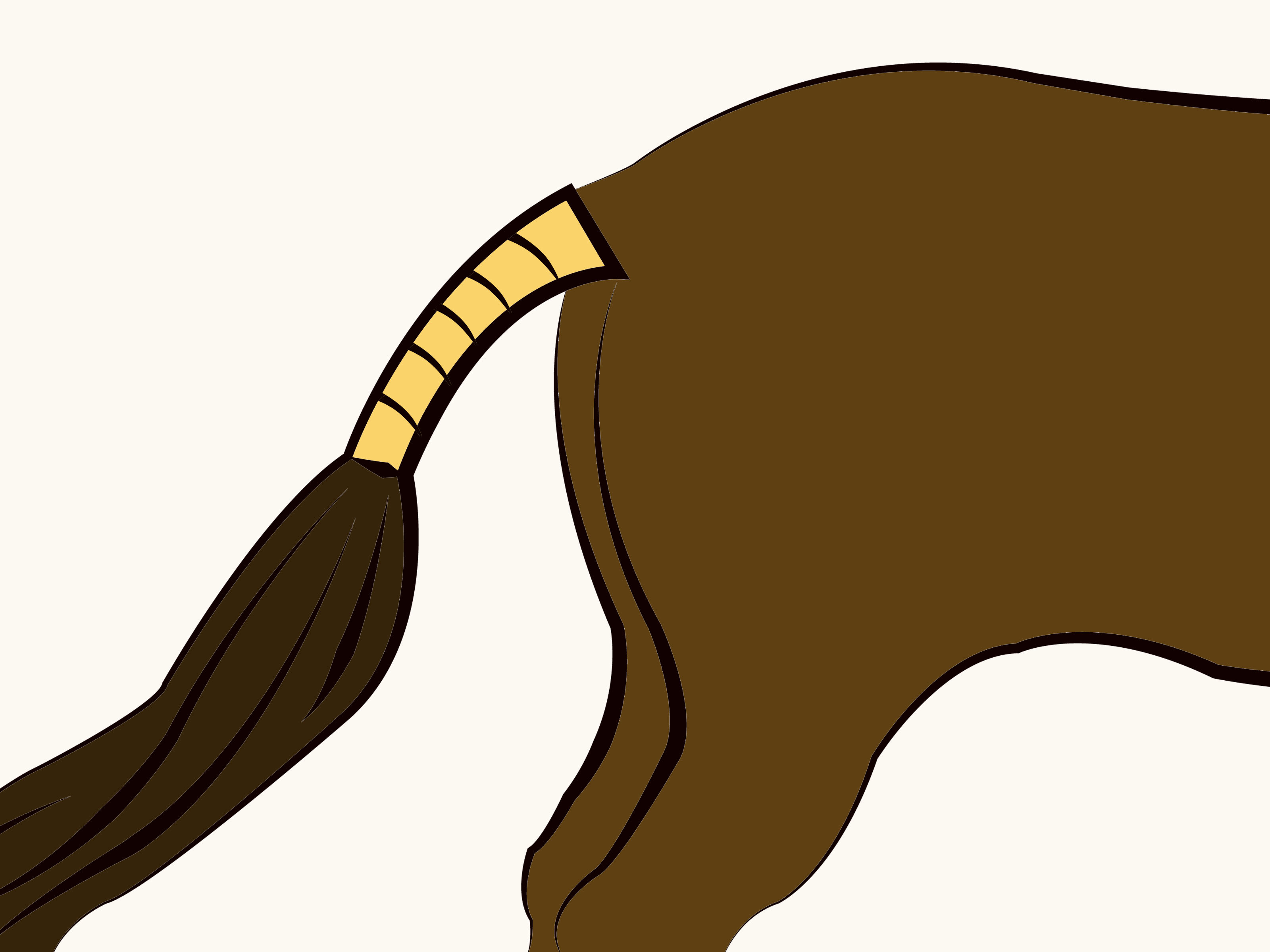 Horse Tail Clipart.