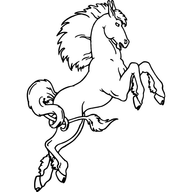 Horse on two legs vector clip art.