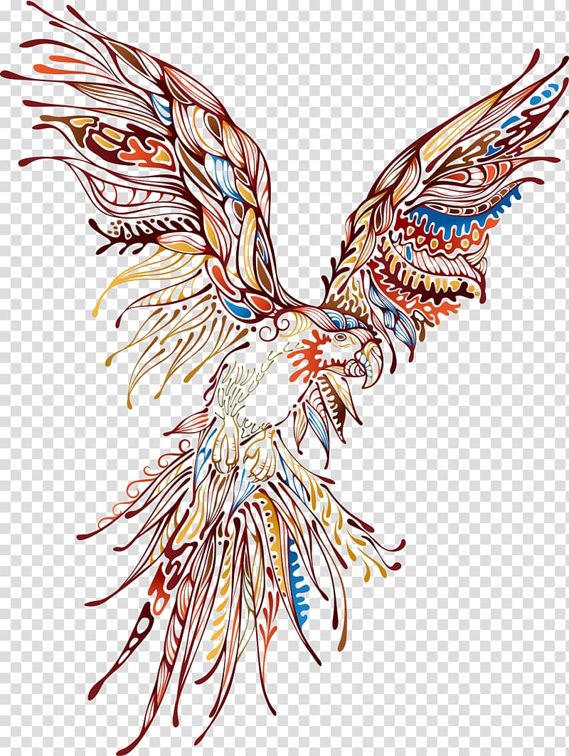 Animal Abstract art, Eagle Printing transparent background.