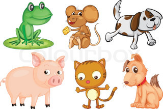 Animals With 4 Legs Clipart.
