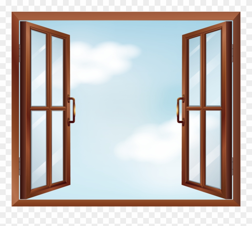 Banner Stock Window Clip Art Vector.