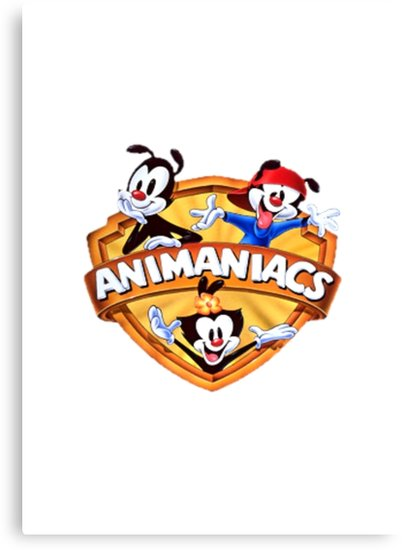 \'animaniacs logo\' Canvas Print by claritykiller.