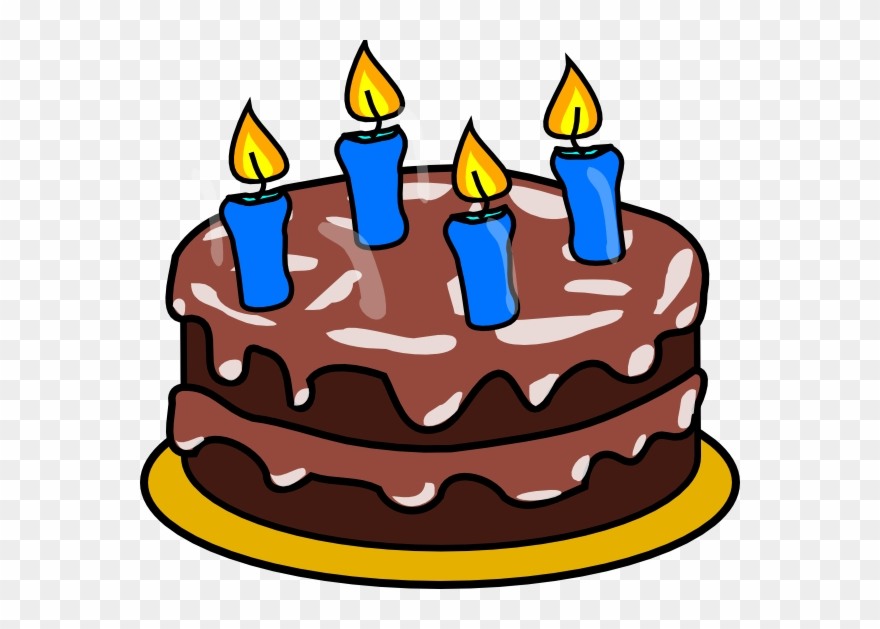 Animated Chocolate Birthday Cake Clipart (#1394385).