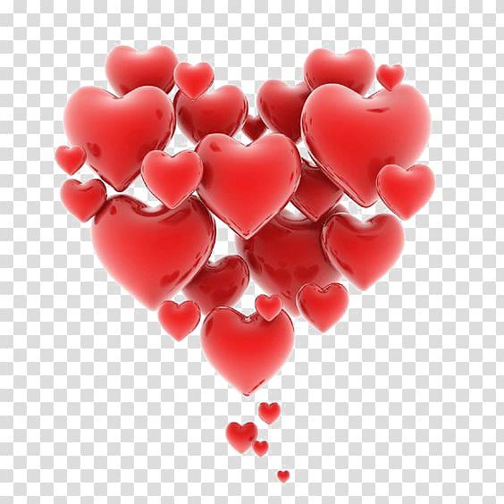 Red hearts , Heart Love Romance , Floating Hearts.