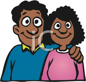 18483 Couple free clipart.