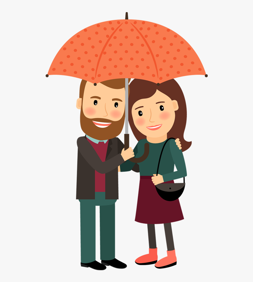 Clipart Umbrella Couple.