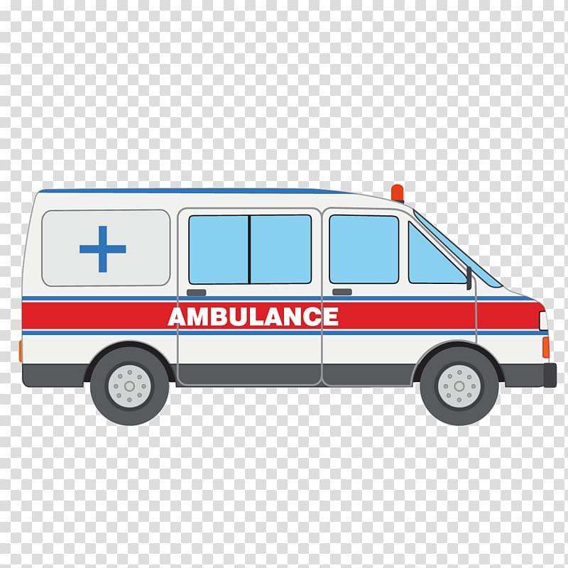 Ambulance animated illustration, Ambulance Icon, Cartoon.