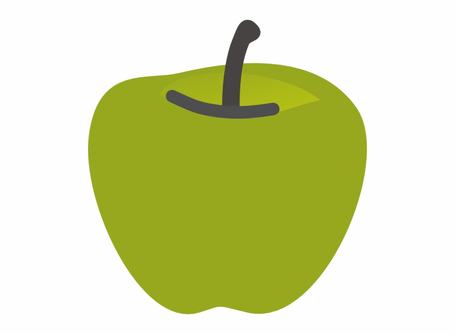 Green Apple 2 Clip Art.