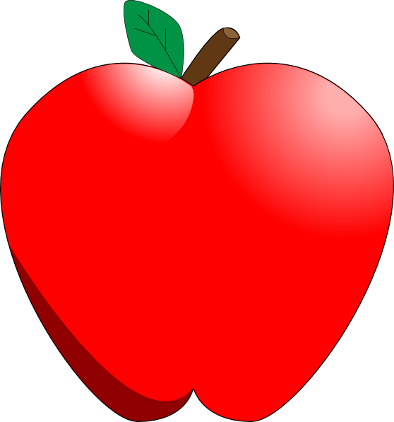 Cartoon Apple Clip Art at Clker.com.