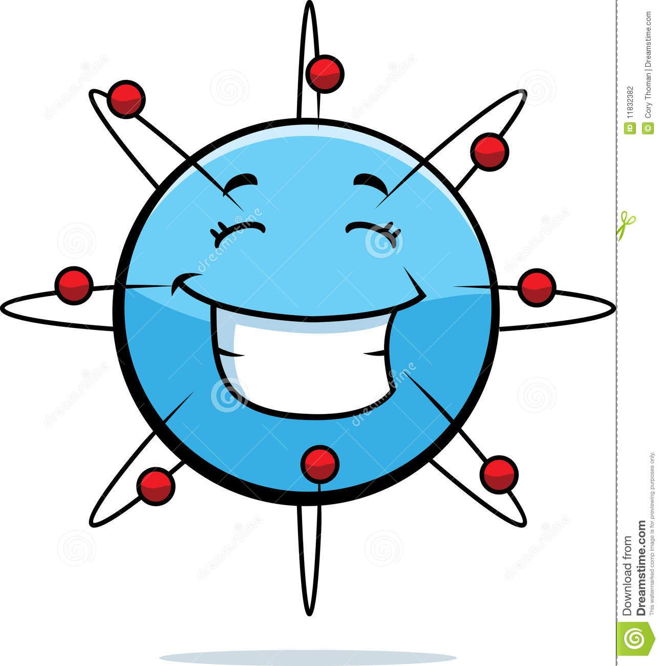 Atom Smiling Stock Photography.