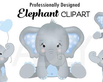 Cartoon Baby Elephant Clipart.