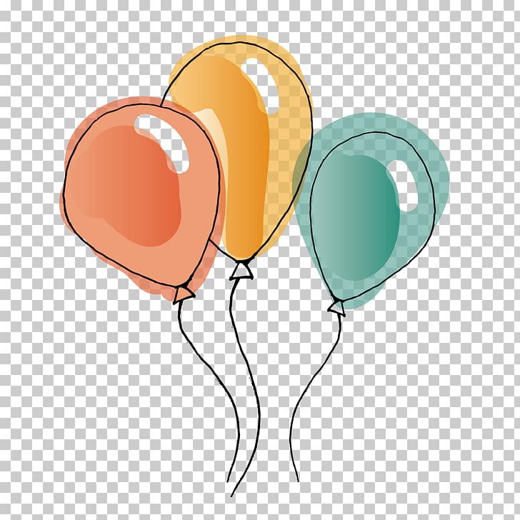 Balloon Watercolor painting , Watercolor Balloon, three.