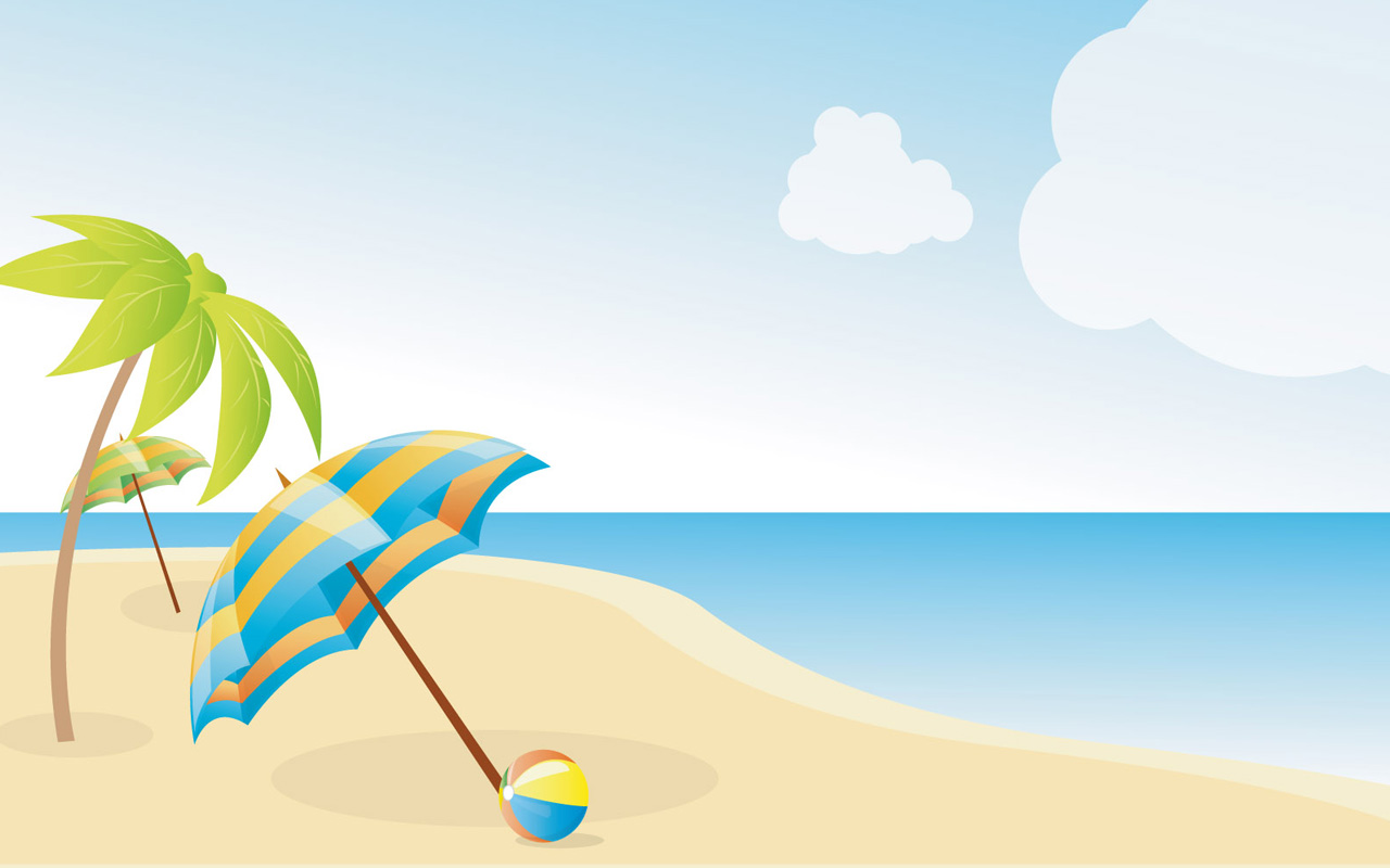 Animated beach clipart.