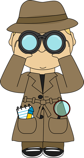 Detective with binoculars. This is the type of clothing our.