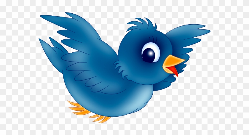 Animated Blue Bird Clipart.