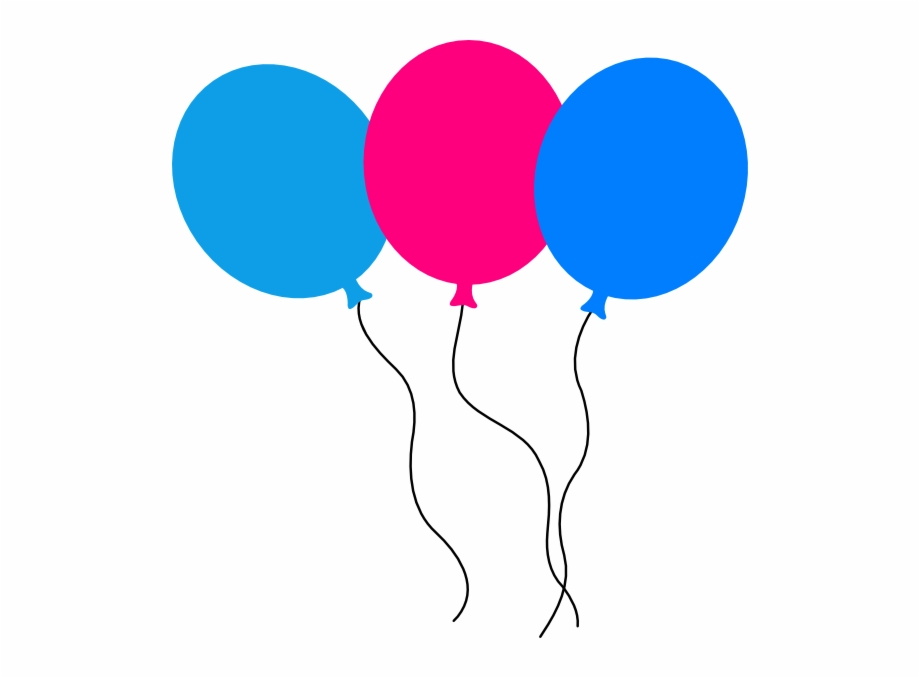 Birthday Balloons Animated Transparent.